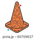 三角コーンのアイソメトリック迷路 60709637