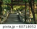 石造りの橋 藤の棚 60718052
