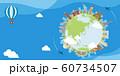 海外旅行・バカンス イメージバナー (文字なし) / 世界の有名な建築物(遺跡・建物・世界遺産) 60734507