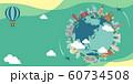 海外旅行・バカンス イメージバナー (文字なし) / 世界の有名な建築物(遺跡・建物・世界遺産) 60734508