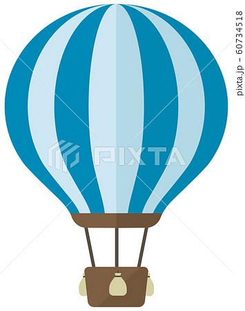 気球・熱気球・アドバルーン カラーイラスト 60734518