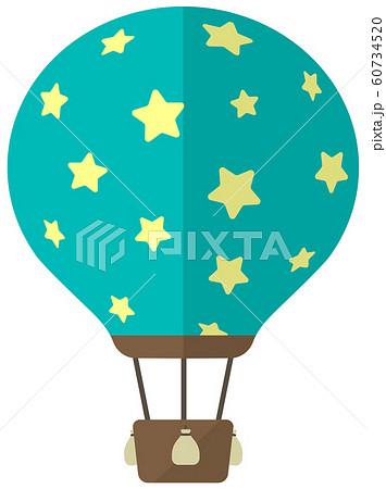 気球・熱気球・アドバルーン カラーイラスト 60734520