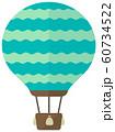 気球・熱気球・アドバルーン カラーイラスト 60734522