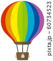 気球・熱気球・アドバルーン カラーイラスト 60734523