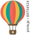 気球・熱気球・アドバルーン カラーイラスト 60734524