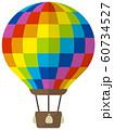 気球・熱気球・アドバルーン カラーイラスト 60734527