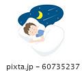 大人 男性 就寝 睡眠 60735237
