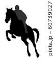 馬術競技のシルエット 60739027