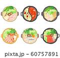 鍋のセット 寄せ鍋 火鍋 鶏団子鍋 カニすき すき焼き 60757891