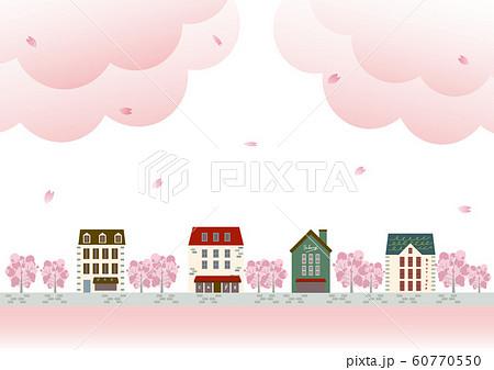 風景 おしゃれな街並み 桜 60770550