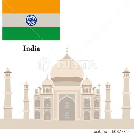 インド タージマハル 旗 60827312