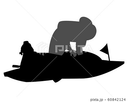 競艇のシルエット 60842124
