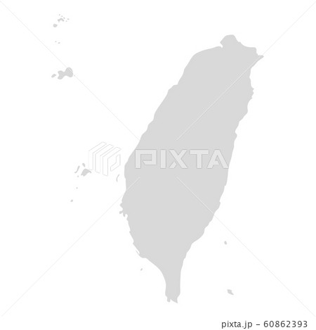 Taiwan vector map icon. Taiwan country map island region illustration 60862393