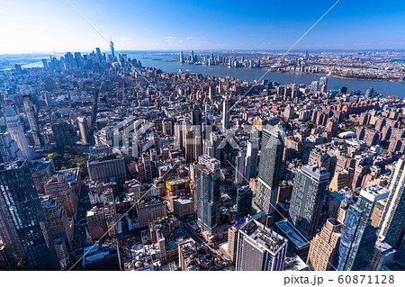 ニューヨーク》マンハッタン・ロウアーマンハッタン方面を一望の写真 ...