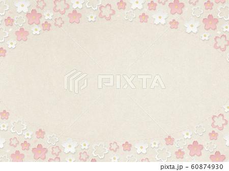 桜-フレーム-楕円-サークル-さくら 60874930