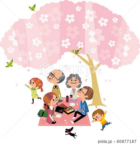 大家族の花見 60877187
