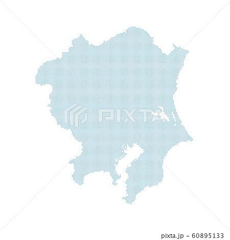 日本地図 関東地方 ドットマップ 拡大版 地図 60895133