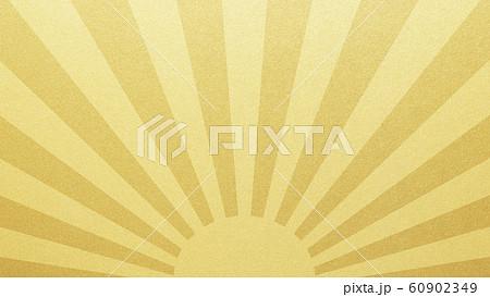 背景-和-和風-和柄-和紙-金箔-太陽 60902349