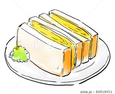 食べ物 イラスト タマゴサンド 60919451