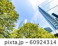 緑のあるオフィス街の風景 60924314