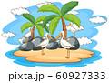 Scene with pelican birds on the island 60927333
