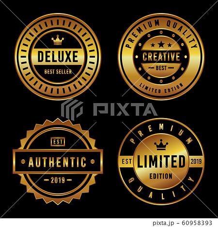 Premium Vintage Badge & Label Set 60958393