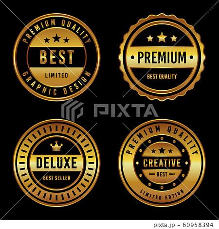 Premium Vintage Badge & Label Set 60958394