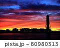 上越火力発電所 夕焼け 60980313