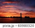 上越火力発電所 夕焼け 60980320