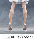 ガラスの靴を履いた美脚の女性 perming3DCG  イラスト素材 60988871