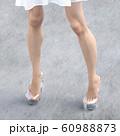 ガラスの靴を履いた美脚の女性 perming3DCG  イラスト素材 60988873