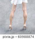 ガラスの靴を履いた美脚の女性 perming3DCG  イラスト素材 60988874