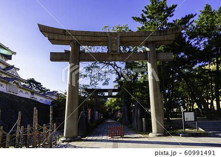 小倉 小倉城 八坂神社 鳥居と参道 福岡県北九州市小倉北区 60991491