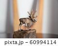 木彫りのトナカイ 60994114