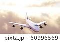 飛行機太陽背景 60996569