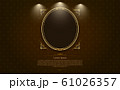 gold frame circle border picture and pattern gold 61026357