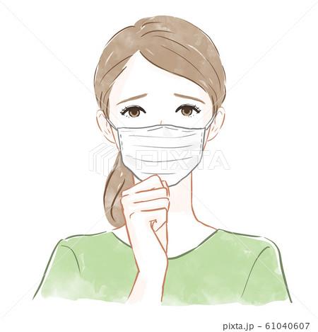 マスクをした女性 61040607