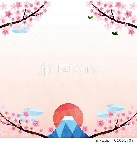 背景素材-桜,富士1テク 61061705