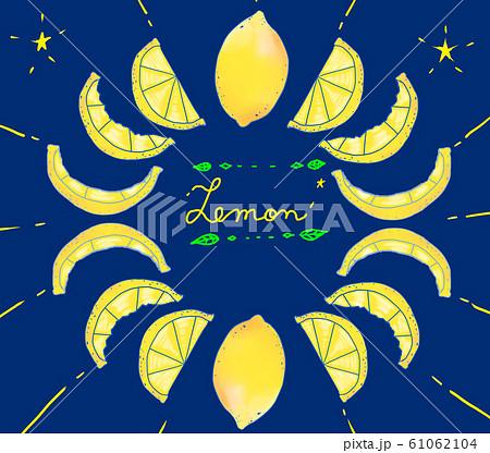 夜空と月とレモン 背景素材 61062104