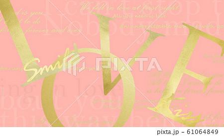 背景-ピンク-LOVE 61064849