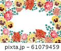 薔薇とパンジー 春の花フレーム 61079459