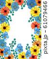 ガーベラとパンジー 春の花フレーム 61079466
