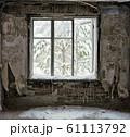 ruin interior with window 61113792