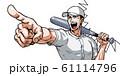 野球,甲子園,指差し,バット,吹き出し,効果線,涙 61114796