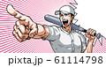 野球,甲子園,指差し,バット,吹き出し,効果線,涙 61114798