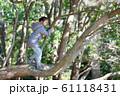 木登りをする女の子 61118431