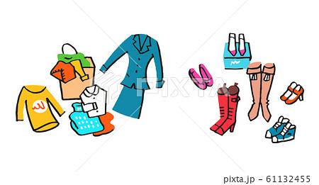 複数の衣類と靴  61132455