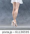 ガラスの靴を履いた美脚の女性 perming3DCG  イラスト素材 61136595