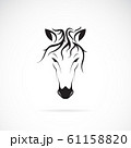 Vector of a horse head design on white background. 61158820