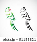 Vector of a parrot design on white background. 61158821